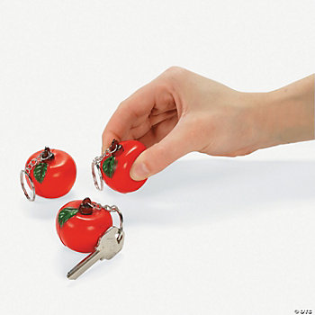 Squeezable Apple Key Chains