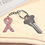Pink Ribbon Rhinestone Key Chain