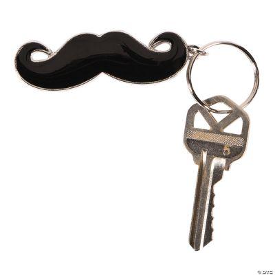 Enamel Mustache Key Chains