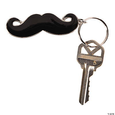 Enamel Mustache Key Chains