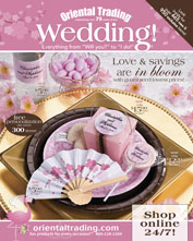 Oriental Trading Wedding catalog for decorations, personalized wedding supplies, guest favors and reception tableware with budget friendly coupon code savings - featured at dendeseabli.cf