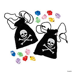 Pirate Drawstring Bags With Jewels