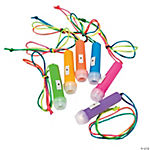 Plastic Mini Flashlights on A Rope