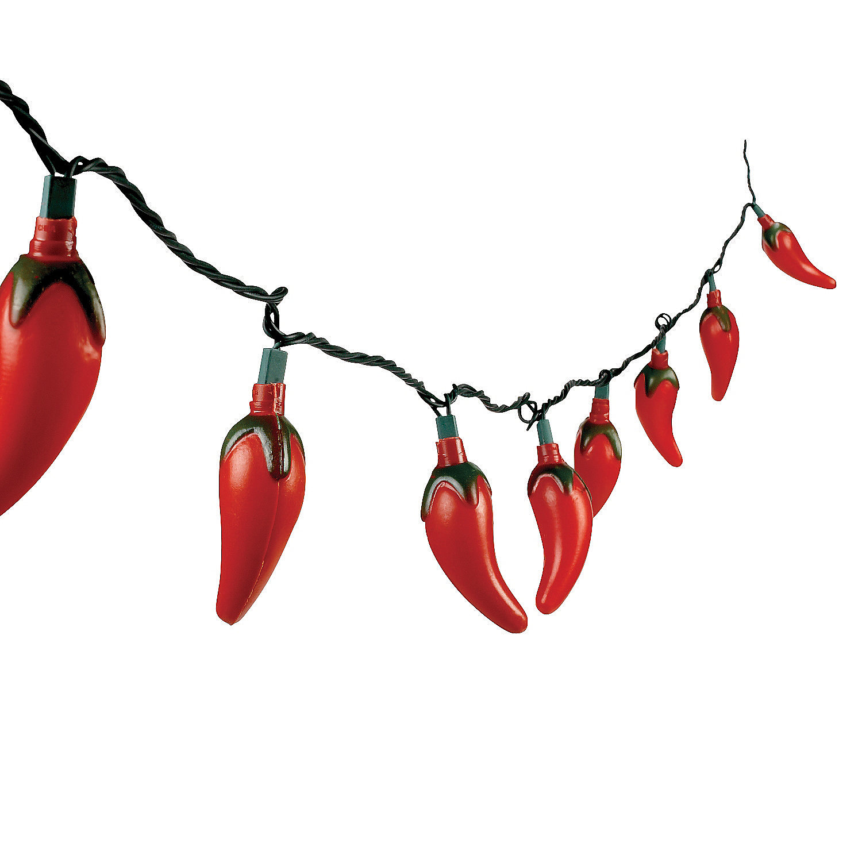chili pepper light set in 23 87 chili pepper light set make your party. Black Bedroom Furniture Sets. Home Design Ideas