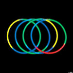 Assorted Tri-Color Premium Glow Necklaces
