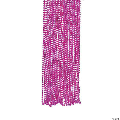 Fuchsia Bead Necklaces