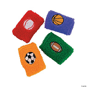 Terry Cloth Sport Ball Wristbands