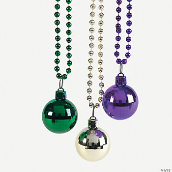 Mardi Gras Beads With A Disco Ball