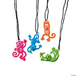 Neon Monkey Necklaces