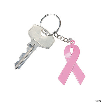 Breast Cancer Awareness Ribbon Key Chains