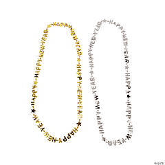 "48 ""Happy New Year"" Necklaces"