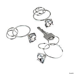 """Diamond"" Ring Key Chains"