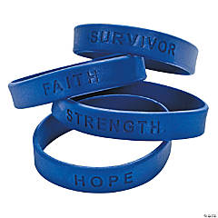 Awareness Sayings Bracelets - Blue