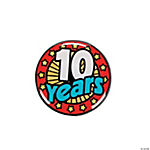 "Years Of Service Pins - ""10 Years"""