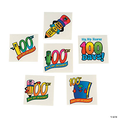 100th Day of School Tattoos