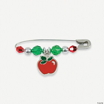 Apple Charm Pin