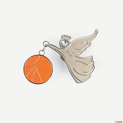 Basketball Angel Pins