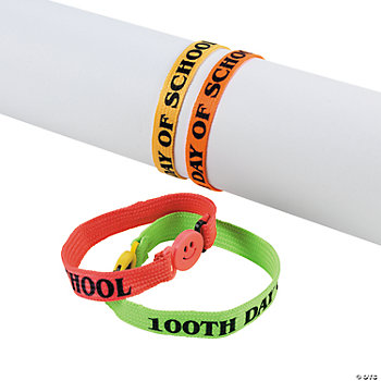 """100th Day of School"" Friendship Bracelets"