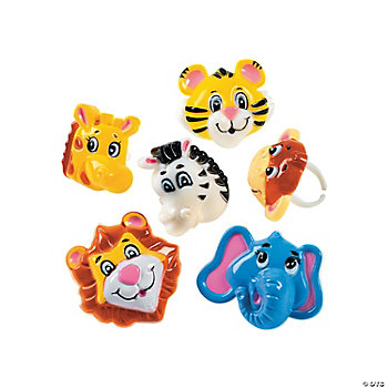 12 Zoo Animal Rings