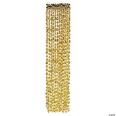 Football Beaded Necklaces - Gold