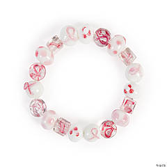 Breast Cancer Awareness Beaded Bracelet