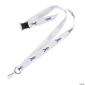 Purple Awareness Ribbon Badge Holders