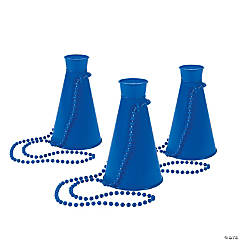 Plastic Blue Megaphone Necklaces