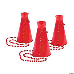 Red Megaphone Necklaces