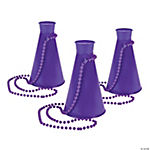 Purple Megaphone On Necklaces