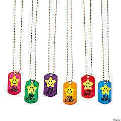 """Star Student"" Dog Tag Necklaces"