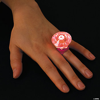 Light-Up Diamond-Shaped Rings