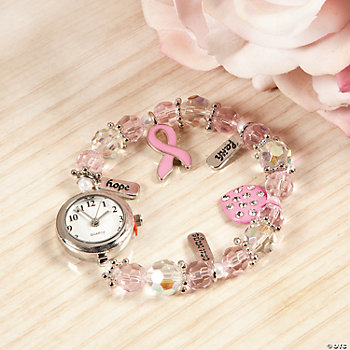 Pink Ribbon Charm Watch