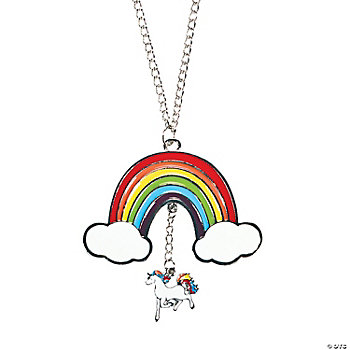 Rainbow Unicorn Necklace Party Favor