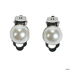 Faux Pearl Clip-On Earrings