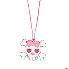 12 Heart Skull & Crossbones Necklaces