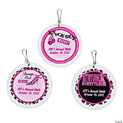Personalized Sassy Pink Ribbon Charms