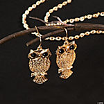 Goldtone Owl Earrings
