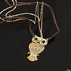 Goldtone Owl Necklace