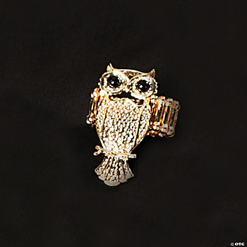 Goldtone Owl Ring