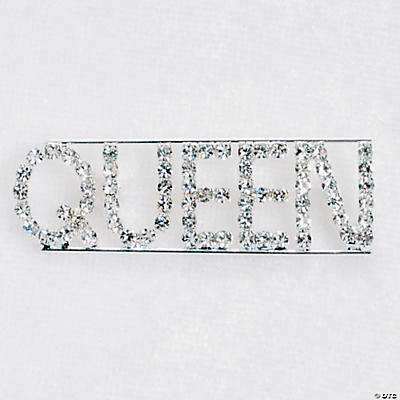 "Rhinestone ""Queen"" Pin"