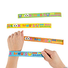 100th Day Of School Slap Bracelets