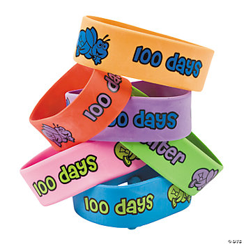 """100th Day Of School"" Big Band Bracelets"