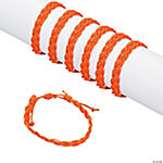 Orange Braided Friendship Bracelets