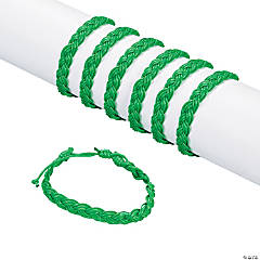 Green Braided Friendship Bracelets