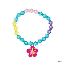 Girl's Stretch Anklets with Flower Charm