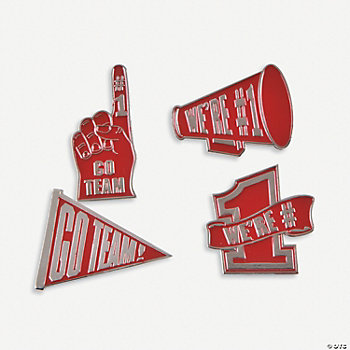 """Go Team!"" Pins - Red"