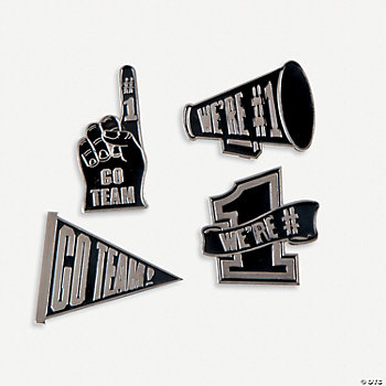 """Go Team!"" Pins - Black"