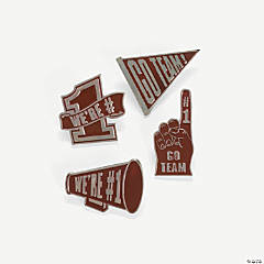 """Go Team!"" Pins - Burgundy"