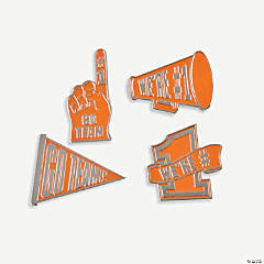 """Go Team!"" Pins - Orange"