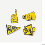 """Go Team!"" Pins - Yellow"